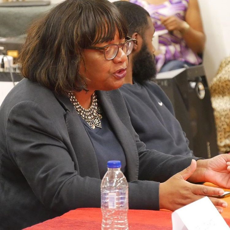 MP Diane Abbott- At our Launch event April 2017, she spoke on the value and importance of changing the narrative about Black British history and challenging negative and racist assumptions about Blackness.