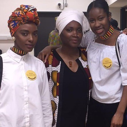 Our Founder Ife Thompson and Eve Makena BLAM team member with Poet Amaka at our launch event